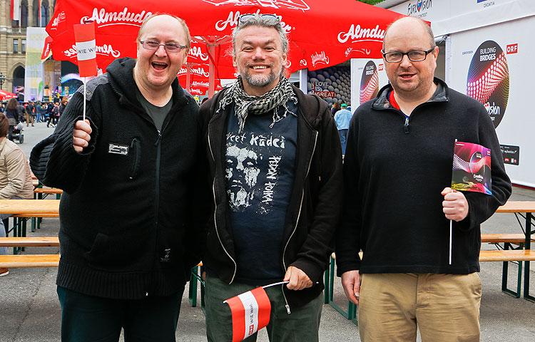 Britit Stevie Daly, Roy Delaney ja John Conaghan ovat hurahtaneet suomalaiseen vaihtoehtomusiikkiin.