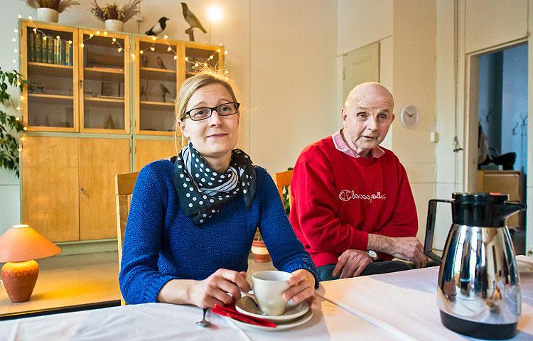 Kahvihetket ovat tärkeä yhdessäolon muoto Villa Käldingessä.