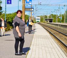 Krista Virran elämä kulkee ammatin vaihdon jälkeen uusilla raiteilla.
