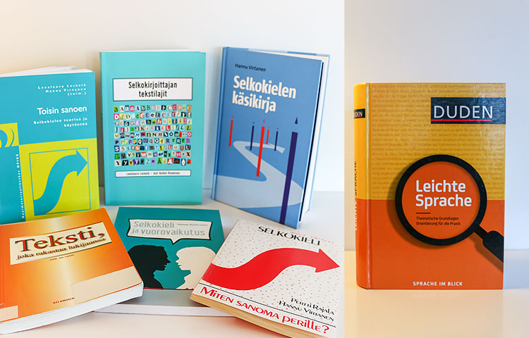 Saksankielistä selkokirjallisuutta käsittelevää kirjallisuutta on vielä hyvin vähän, kun taas Suomessa tarjonta on runsasta. Kuva: Eeva Grönstrand