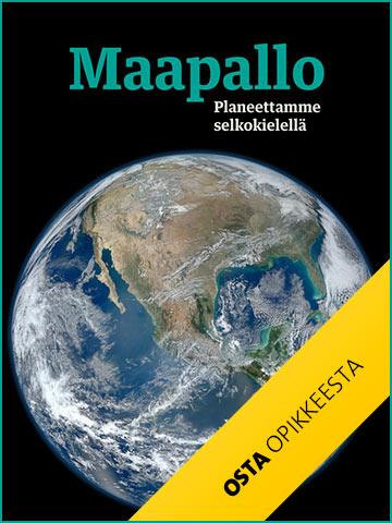 Maapallo - Planeettamme selkokielellä -julkaisun kannnessa on maapallo.