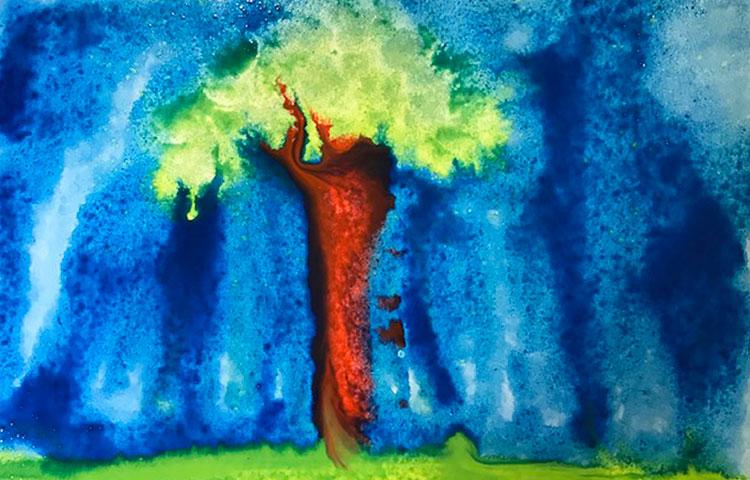 Maalaus puusta.